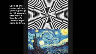 #Art #Classic Incredible - Van Gogh Starry Night Optical Illusion - Watch It Come Alive