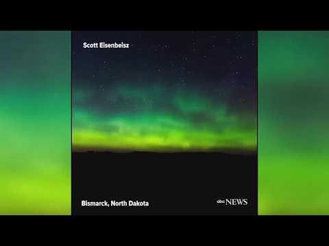 Northern lights illuminate North Dakota sky