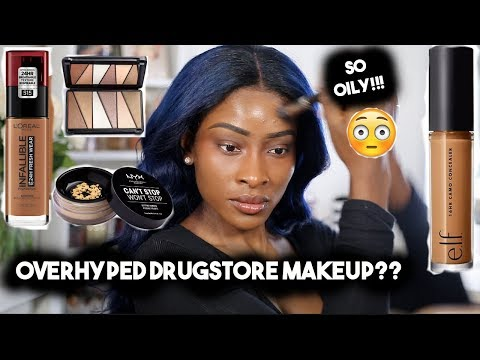 FULL FACE OF DRUGSTORE/ AFFORDABLE MAKEUP I KEEP HEARING ABOUT thumbnail