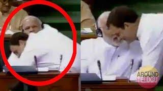 VIDEO : Rahul Gandhi Hugs PM Narendra Modi In Lok Sabha..No Confidence Motion