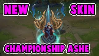 NEW CHAMPIONSHIP ASHE SKIN GAMEPLAY! | BEAUTIFUL SKIN IT FEELS VERY SMOOTH | League of Legends