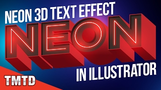 Illustrator Tutorials: Neon 3D Text Effect in Illustrator