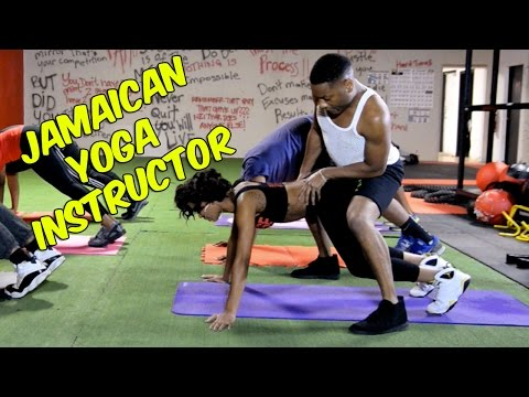 Jamaican yoga instructor