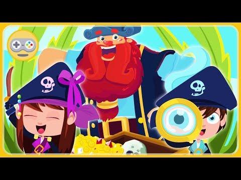 Пираты - Приключения для детей * Поиски Сокровища пиратов и Кракен * мультик игра Lipa Pirates