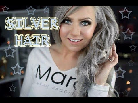 SILVER HAIR TUTORIAL - BLONDE ROOT TOUCH UP - STEP BY STEP - UNDER 20$ AT HOME
