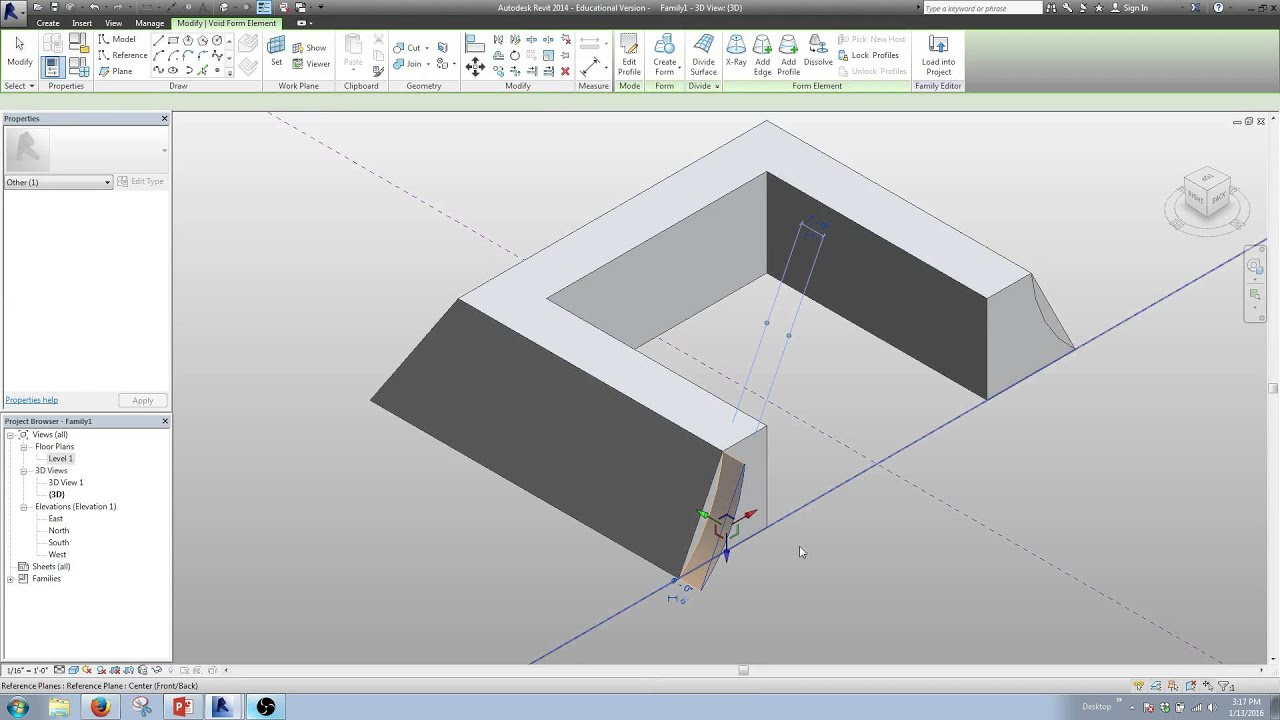 Revit Massing A Curved Bell Shaped Roof Youtube