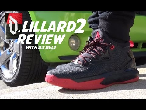 adidas Damian Lillard 2 Sneaker Review + On Feet With  DjDelz ... 907d39433