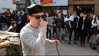 Южная Корея | Мой брат поет на Хондэ (Сеул)