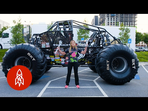 The Youngest Female Monster Truck Driver Builds Her Own Rides