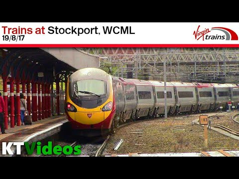 Trains at Stockport, WCML - 19/8/17
