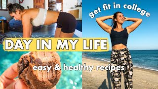 HEALTHY COLLEGE VLOG | What I Eat In a Day, Being a Fitness Influencer + Easy and Healthy Recipes
