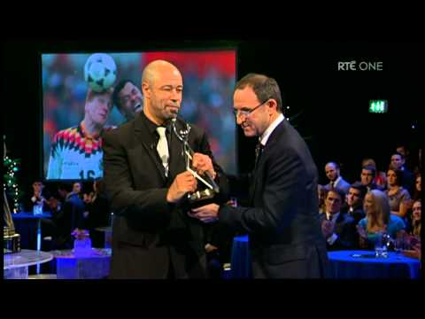 Paul McGrath inducted into Hall of Fame by Martin O