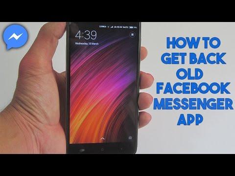 How To Get Back Old Facebook Messenger App In Hindi