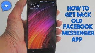 (Hindi) How To Get Back Old Facebook Messenger App