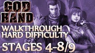 vuclip Ⓦ God Hand Walkthrough ▪ Hard Mode - Stage 4-8 / 4-9 ▪ Azel/Devil Hand Boss Fight #1