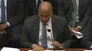 Sen. Booker testifies for Criminal Justice Reform