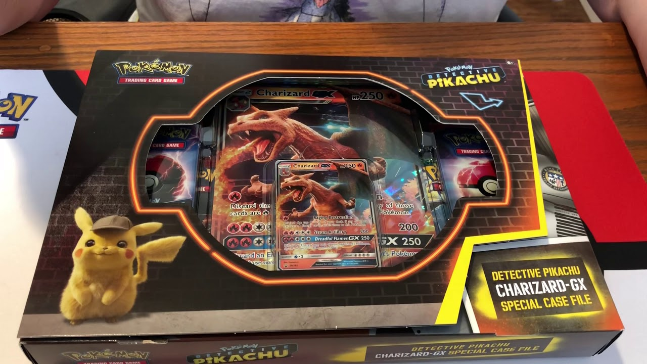 Opening A Pokemon Detective Pikachu Charizard Gx Special Case File