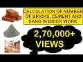 How to Calculate Number of Bricks and Quantity of Cement and Sand in Mortar