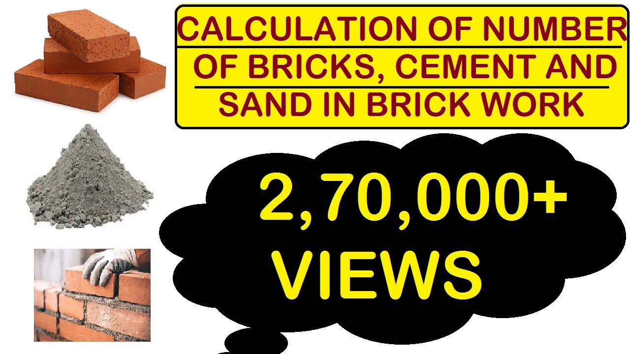 How To Calculate Number Of Bricks And Quantity Of Cement