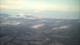 Delta Airlines Flight 456 final approach & landing at Guatemala City Sept. 26, 2011 at 6:15 a.m.wmv