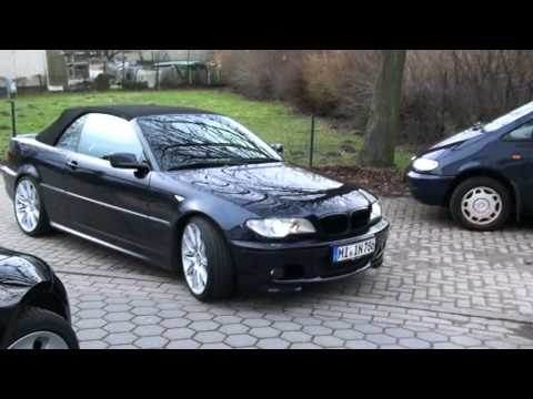 bmw e46 cabrio mit e92 m felgen youtube. Black Bedroom Furniture Sets. Home Design Ideas