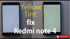 Xiaomi Mi Yellow Tint Display Problem in Redmi Note 5 Pro