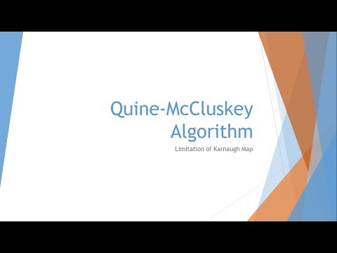 Quine-McCluskey Algorithm: K-Map Limitation
