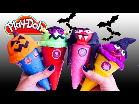 Thumbnail: Halloween Peppa Pig Ice Cream Parlor Building Toys Play Doh Ice Cream DIY La Heladería de Peppa Pig