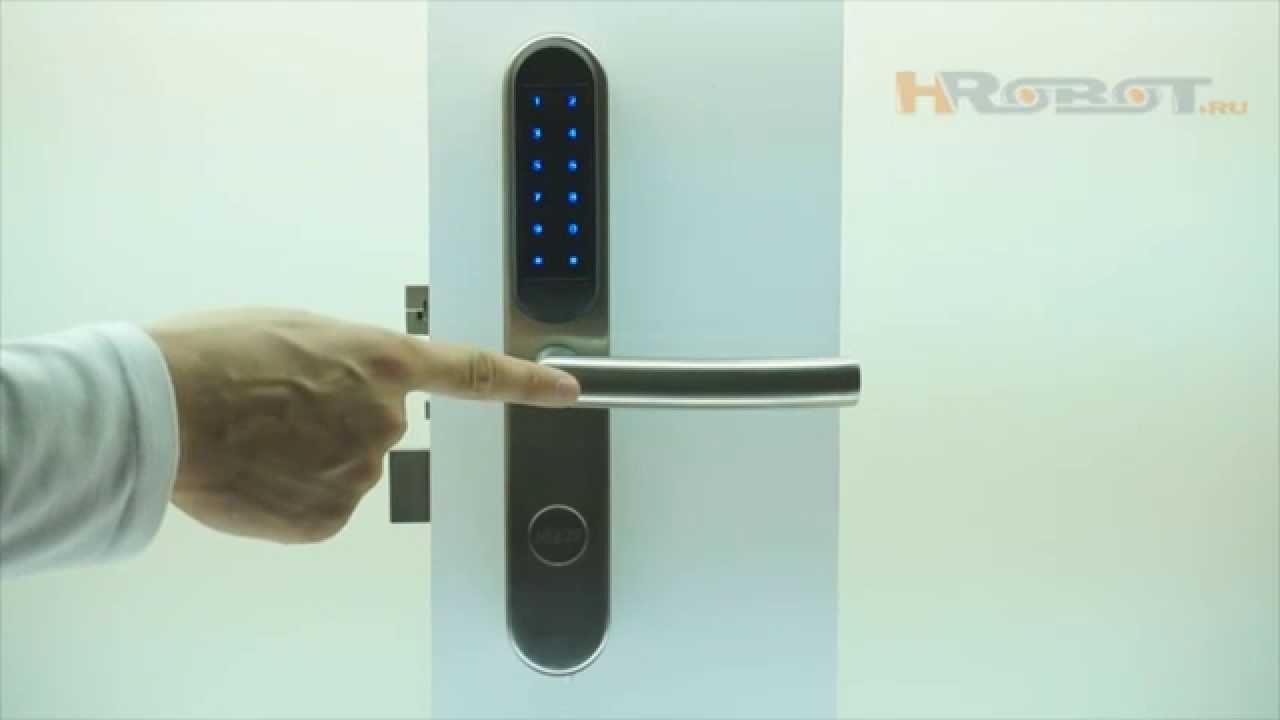 Кодовый замок накладка с дверной ручкой Keyu 929SS-M