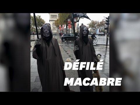 Ces faucheuses défilent sur les Champs-Élysées contre la fourrure