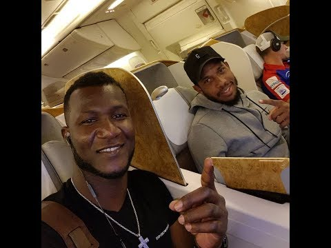 video: Foreign players in plane travelling to pakistan for PSL  playoff matches