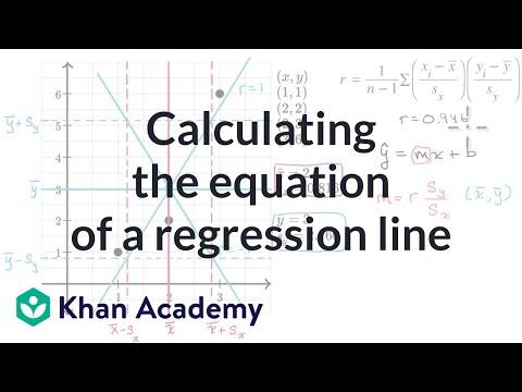 Calculating the equation of a regression line | AP Statistics | Khan Academy
