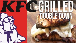 Kfc Double Down Chicken Sandwich Grilled By The Bbq Pit Boys