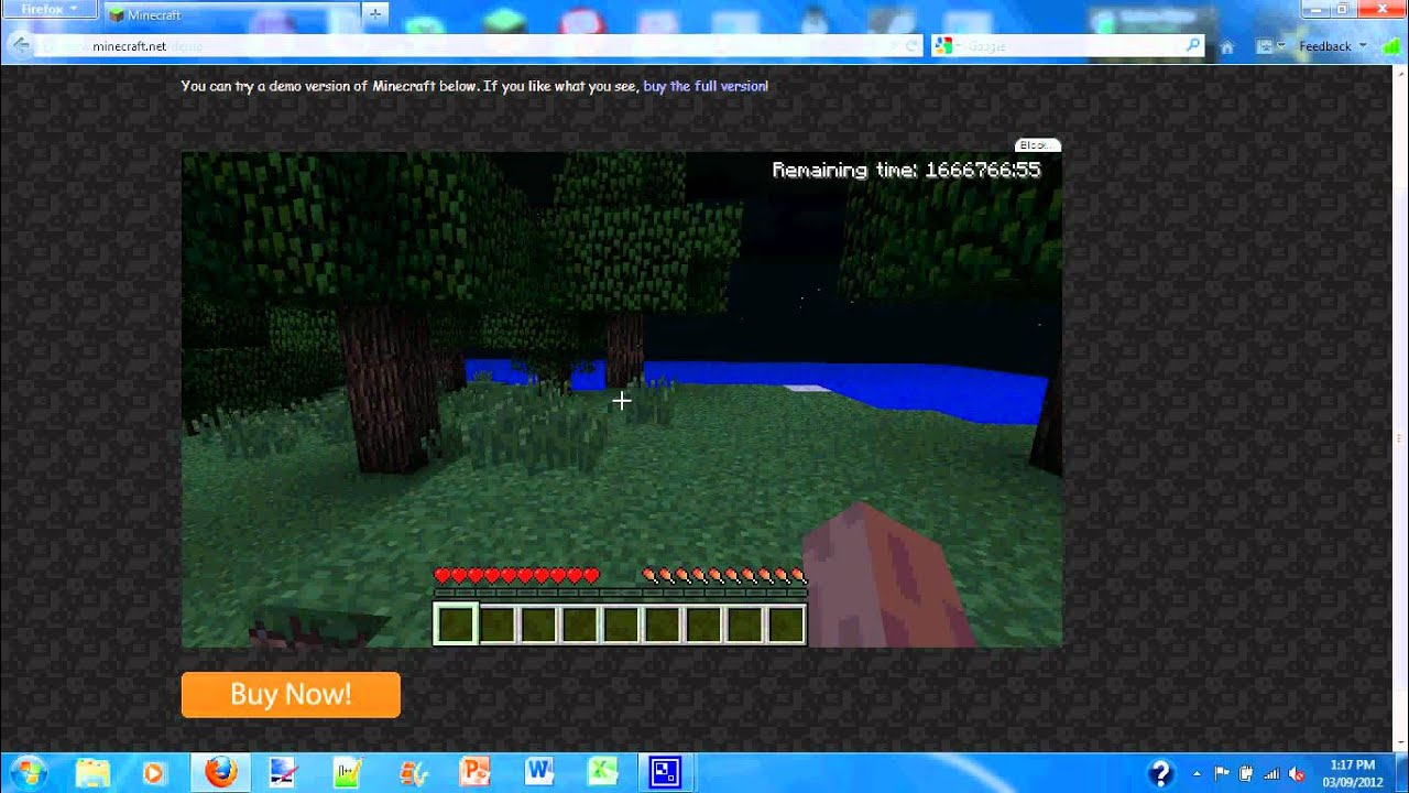 How to get unlimited time in minecraft demo mode turn on for Mine craft free demo