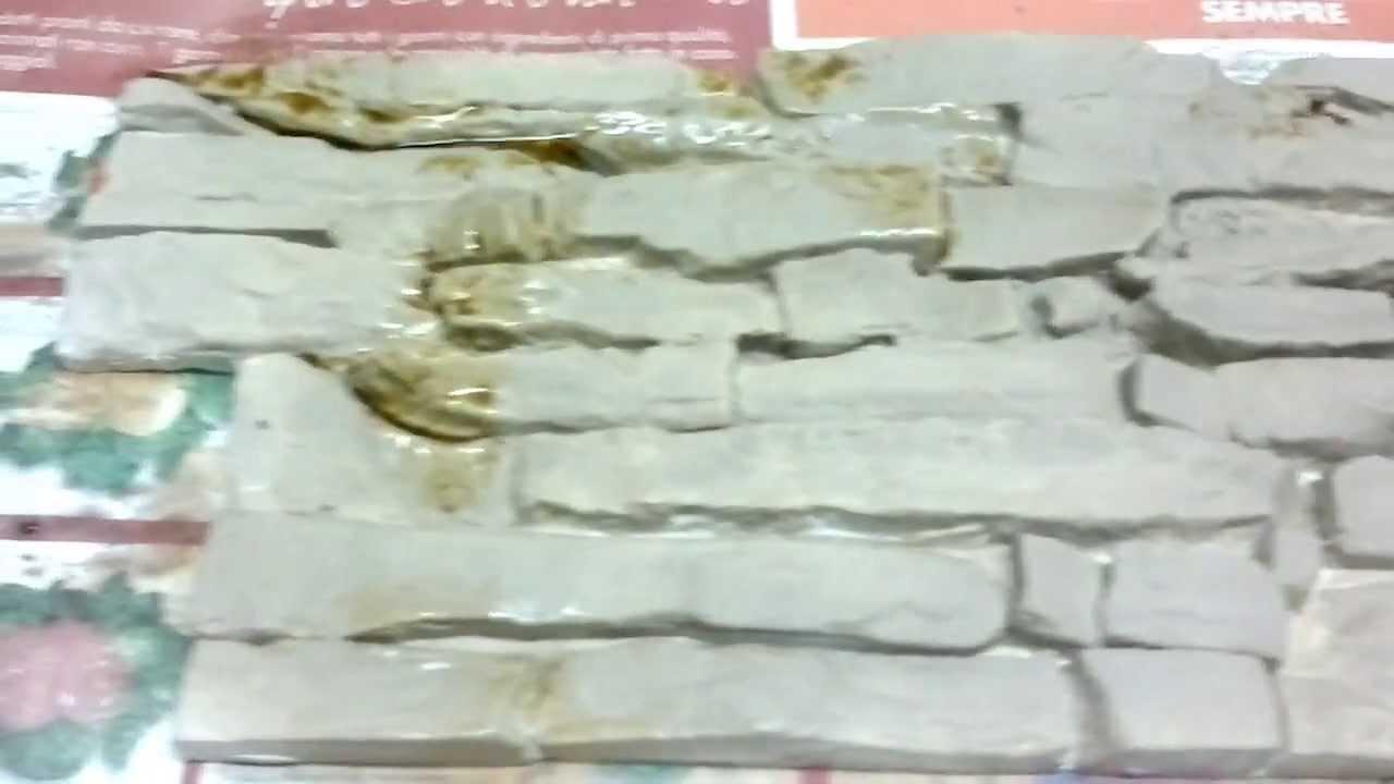 Colorazione delle mattonelle finta pietra ricostruita