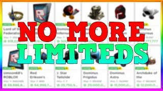 Is Roblox actually DONE making LIMITEDS?!