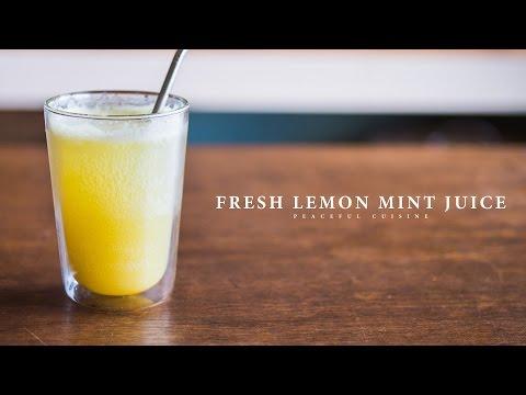 Fresh Lemon Mint Juice ☆ レモンミントジュースの作り方