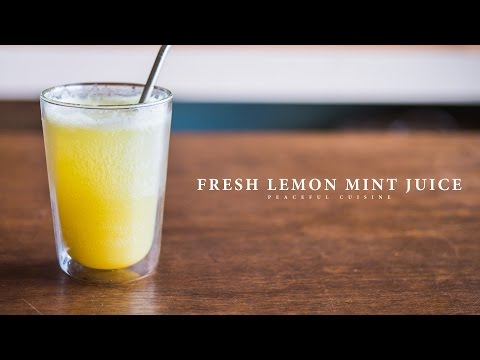 Fresh Lemon Mint Juice