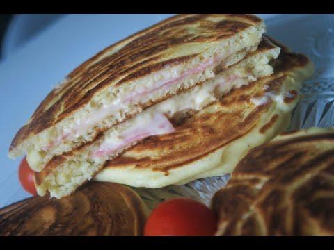 recette-180-:-croque-pancakes-au-jambon-de-dinde-&-au-fromage-ideal-pour-un-brunch