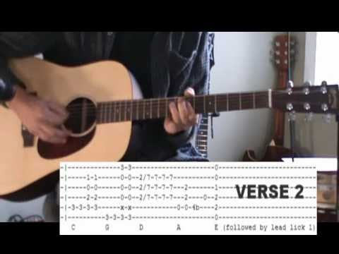 Jimi Hendrix Hey Joe Acoustic Guitar Lesson - Tab
