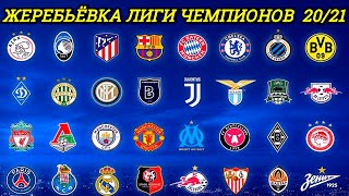 ЖЕРЕБЬЕВКА ЛИГИ ЧЕМПИОНОВ УЕФА СЕЗОНА 20 21 ИТОГИ ГРУПОВОГО ЭТАПА