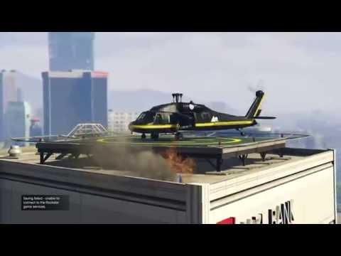 GTA V Finance & Felony DLC - how to land a helicopter on your HQ if it's blocked