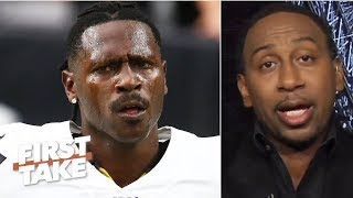 Antonio Brown's helmet issue is an excuse not to be around the Raiders - Stephen A. | First Take