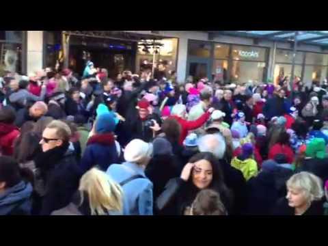 Flash mob Uneå 2012-10-20