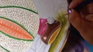 Pintura em tecido da bonequinha melão – parte 5