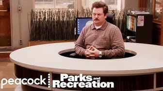 Ron Swanson's New Desk - Parks and Recreation