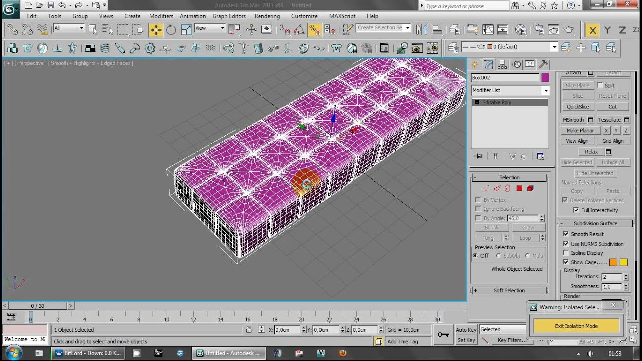 3ds max sofa modelling by using editable poly modelling for Tutorial 3d max