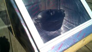 My new diy solar oven in the first stages part 1.