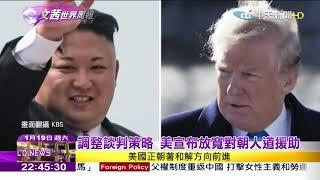 2019.01.19【文茜世界周報】朝鮮二把手金英哲訪美 川金二次會重新啟動