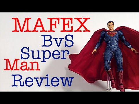 MAFEX Medicom Batman V Superman Dawn of Justice SUPERMAN Action Figure Review Toy Review